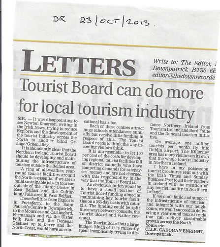 Oct 23 2013 Touist Board and Local tourism industry by CadoganEnright