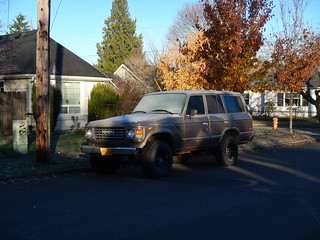 Toyota. Land Cruiser. Morning frost is nothing for this Alaska bred beast. Portland.