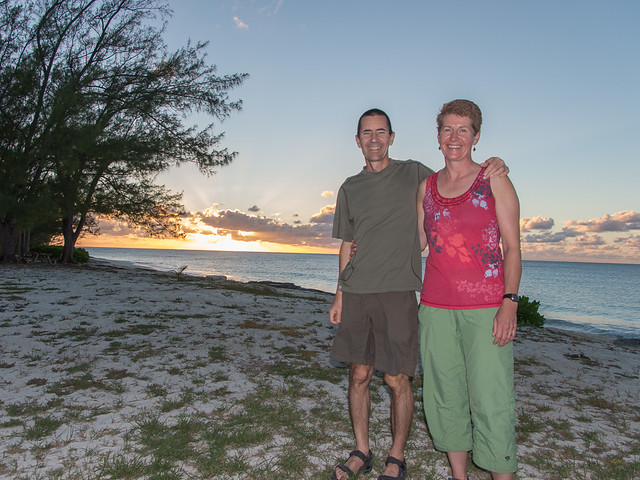 Shelley and Andrew, sunset at Long Beach