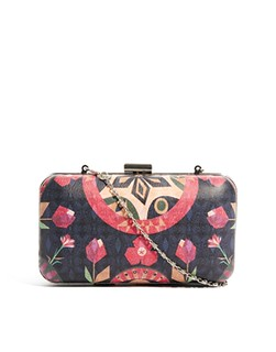 Textile Federation Paper Garden Box Clutch Bag
