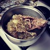 Grandma's turning last night's turkey drippings and carcass into soup!