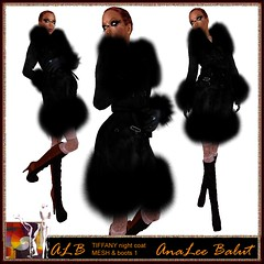 ALB TIFFANY night coat - MESH & ESTELLA boots by AnaLee Balut - ALB DREAM FASHION