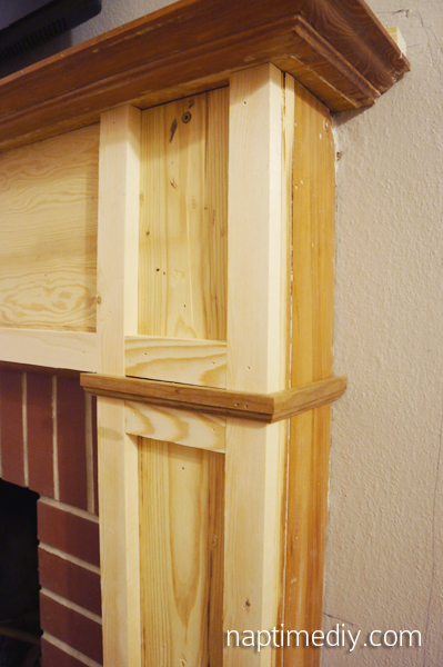 Fireplace Mantel Build 3 (via NaptimeDIY.com)