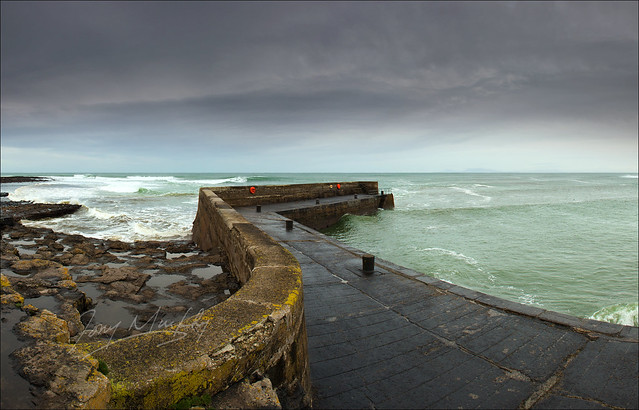 Stormy Afternoon at Easkey Harbour, Co. Sligo