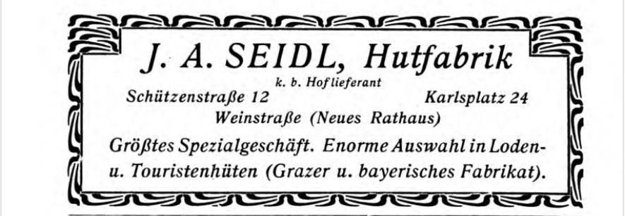 Hutfabrik J A Seidl M Nchen German Hat Companies