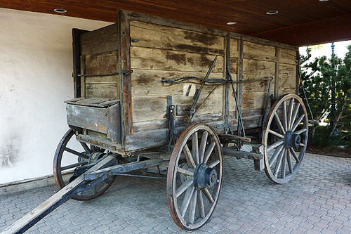 Wagon at the Ashcroft Museum, Ashcroft, Thompson Okanagan, British Columbia, Canada