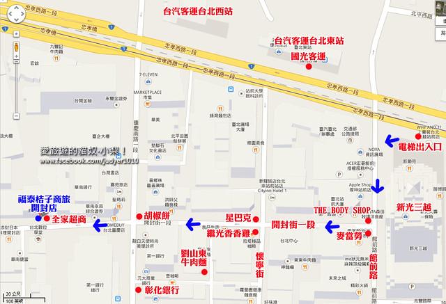 福泰桔子商旅 開封店地圖