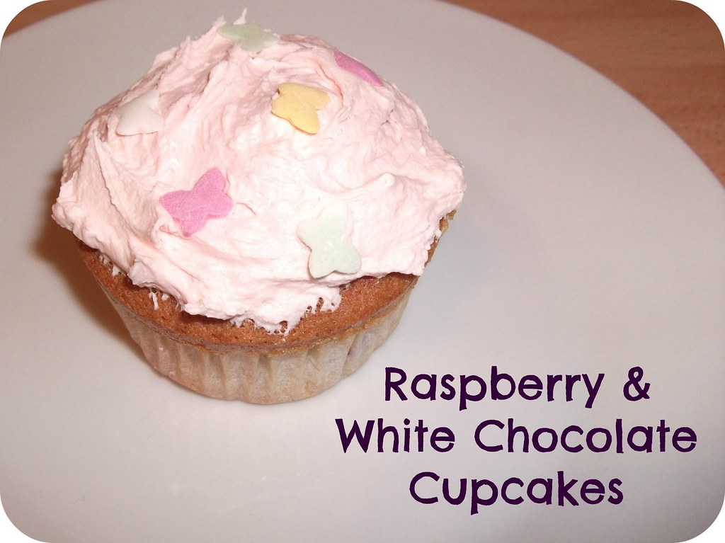 Raspberry & White Choc Cupcakes Recipe