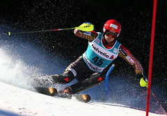Brad Spence earns a 20th place finish in the slalom in Adelboden, SUI
