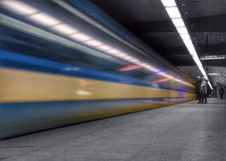 Montreal Metro B&W (almost)