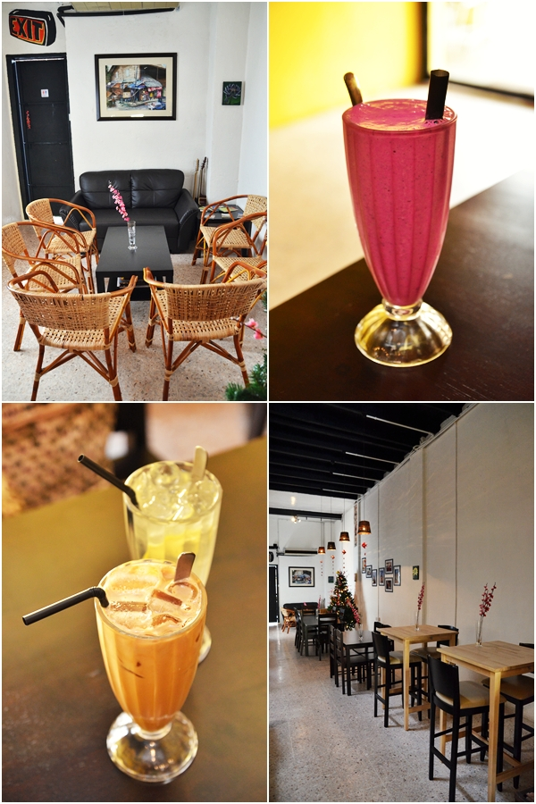 Dragonfruit Shake & Iced Latte