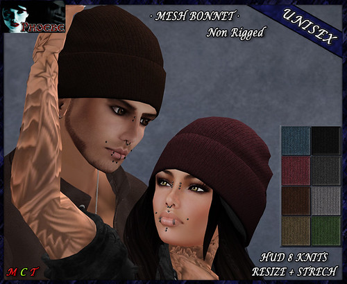 [OFFER!] *P* Jess MESH Bonnet ~8 Knits~ Unisex