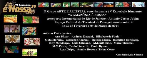 "Exposição "" A Amazonia é Nossa "" Andreza Katsani - Aeroporto Internacional do Rio de Janeiro by Andreza Katsani"