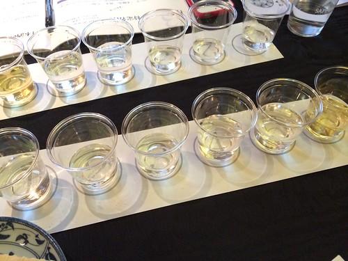 6種類の飲み比べ@日本酒ナビゲーター