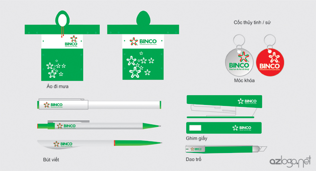Thiết kế mẫu quà tặng (áo mưa, bút bi, ghim giấy, dao trổ, móc chìa khóa ...)
