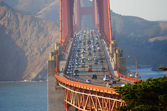 The Golden Gate Bridge and its traffic