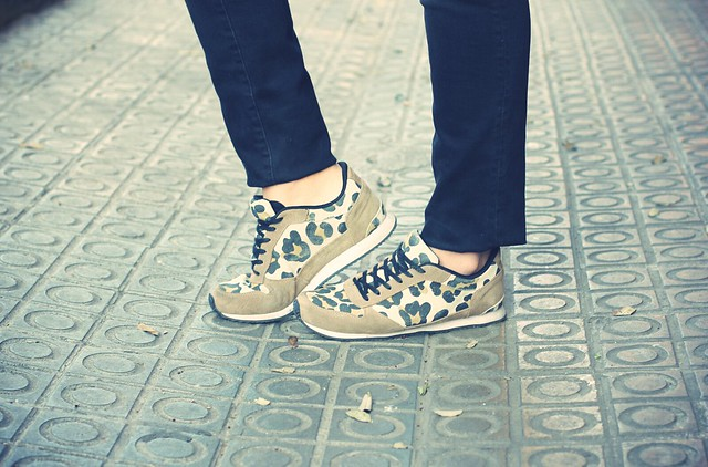 Look leopard sneakers