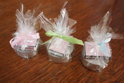 Bridal Shower Favors - Candleholders and Custom Matchboxes ...