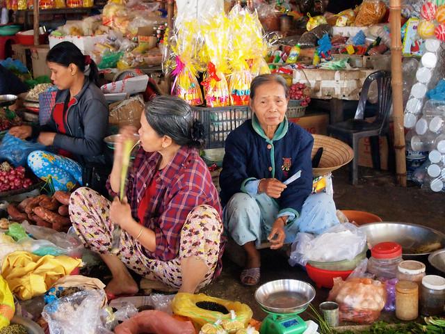 Countryside market in Vietnam