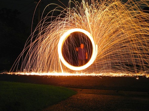 Burning Steel Wool – 40 points