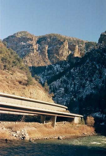 film geotagged nikon highway colorado canyon viaduct amtrak interstate n80 i70 interstate70 californiazephyr glenwoodcanyon amtk
