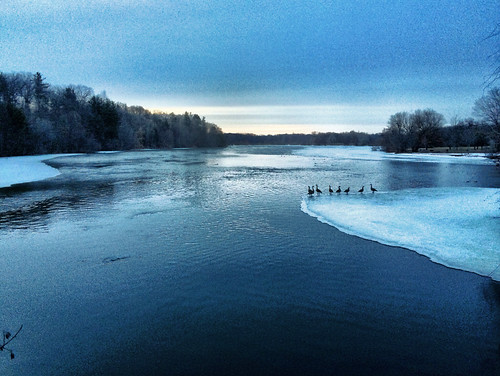 Dawn Over the Huron River on the First Day of Spring