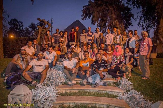 Foto de grupo de la Expedición Kamal en el Mena House Hotel (Egipto)