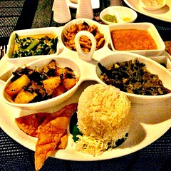 Vegetarian curry plate