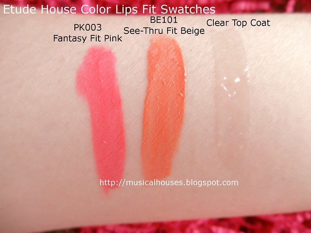 Etude House Color Lips Fit Swatches