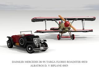 Albatros D. V Biplane (1917) & Daimler Mercedes 28-95 Targa Florio Roadster (1923)