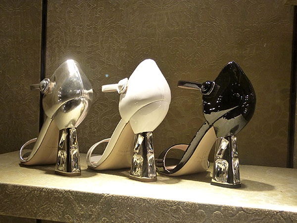 chaussures qui brillent