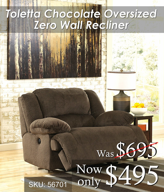 Toletta Chocolate Oversized Recliner SALE