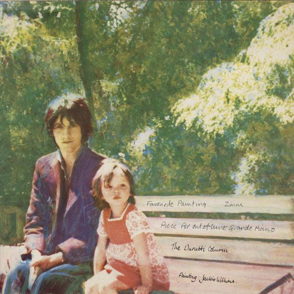 Оборотная сторона обложки мини-альбома «Deux triangles». Рисунок: Jackie Williams