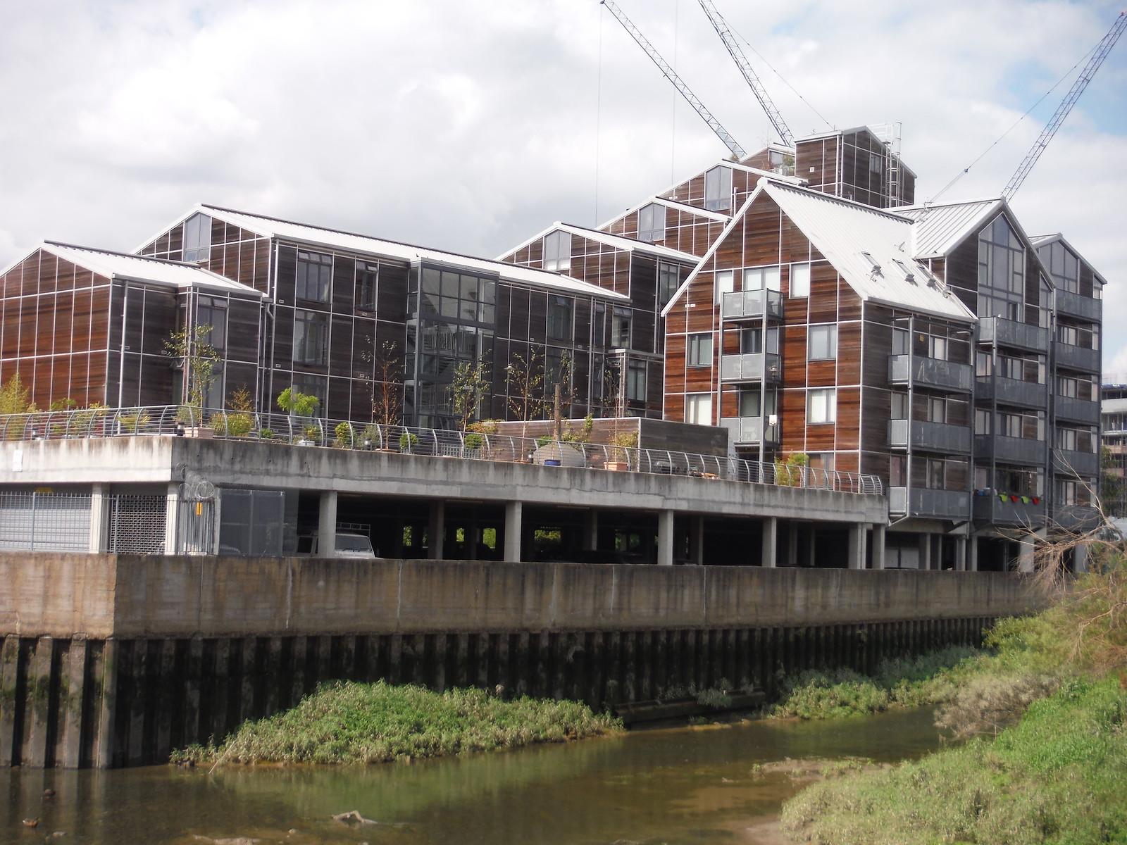 New Buildings near Three Mills SWC Short Walk 21 - The Line Modern Art Walk (Stratford to North Greenwich)