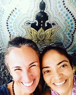 #throwbackthursday  #friends ??Flavia Krishna and Radha last year after an amazing Kirtan  in Miami! ??And they will be together again tomorrow @flaviakrishnagershone108 playing amazing healing songs and mantras at Radha's class