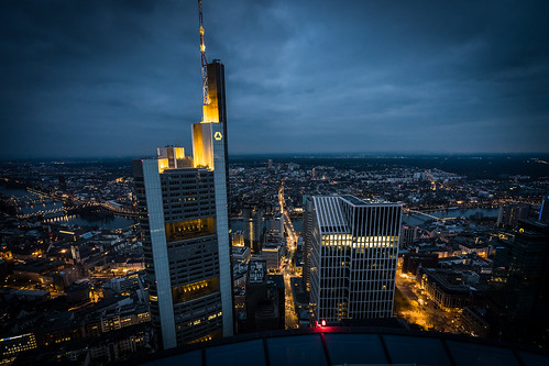 Over the Rooftops of Frankfurt City from Toni Hoffmann
