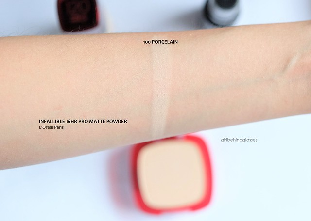 L'Oreal Infallible 16HR Pro Matte Powder swatch