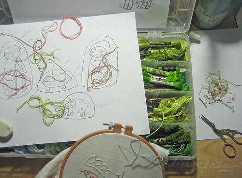 stitching again...
