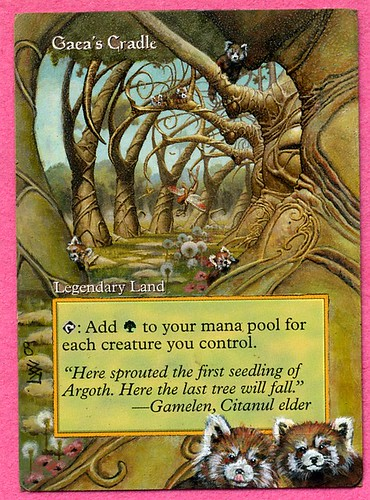 Gaea's Cradle Altered Art Magic the Gathering MTG card art artwork magic the gathering land art