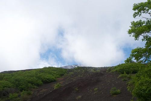 富士山山頂が少し