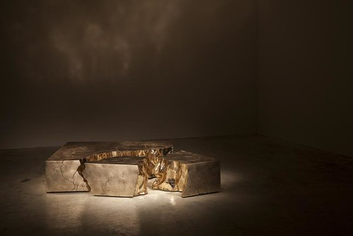 Based Upon. Bronze Fragmented Crack Coffee Table (jpeg)