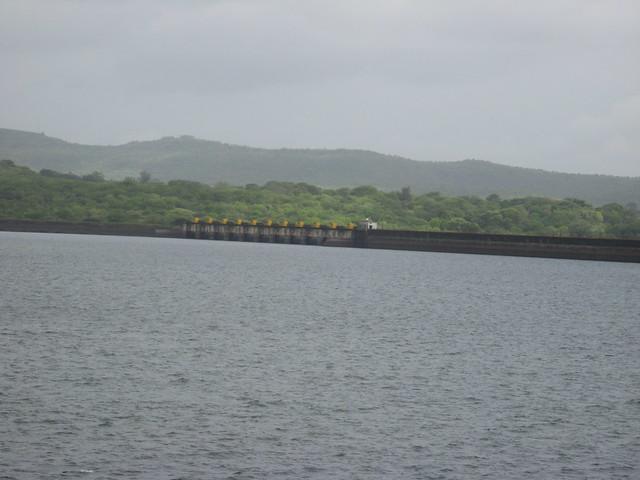 The Khadakwasla dam near Pune after the heavy showers.