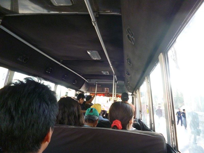 Inside a combi in Arequipa