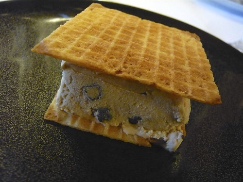Blueberry ice cream sandwich