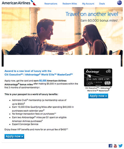 Screenshot of offer from Citi