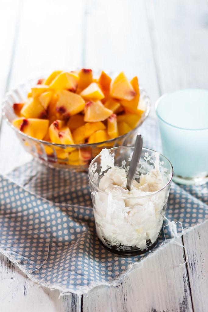 yogurt gelato alla pesca