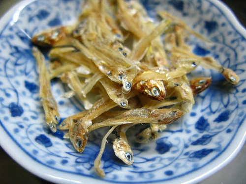 chinese, dried anchovies, steamed pork patty