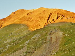 Alpenglow on Handies Peak (14,048 ft)