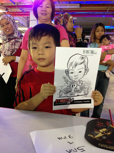 caricature live sketching for NTUC U Grand Prix Experience 2013 - 43