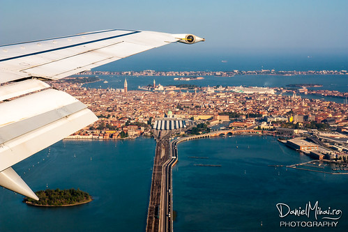 Venice from the airplane by Daniel Mihai